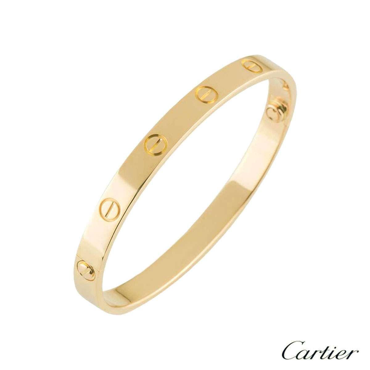 Cartier Yellow Gold Love Bracelet Size 21 B6035521